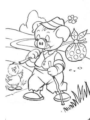 Coloriage Ferme Cochon.Coloriages Animaux De Ferme