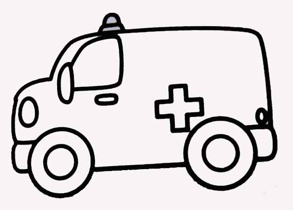 Coloriages jouets - Dessin ambulance ...