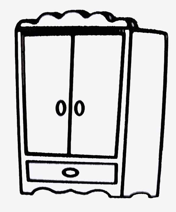 Armoire Dessin coloriage armoire