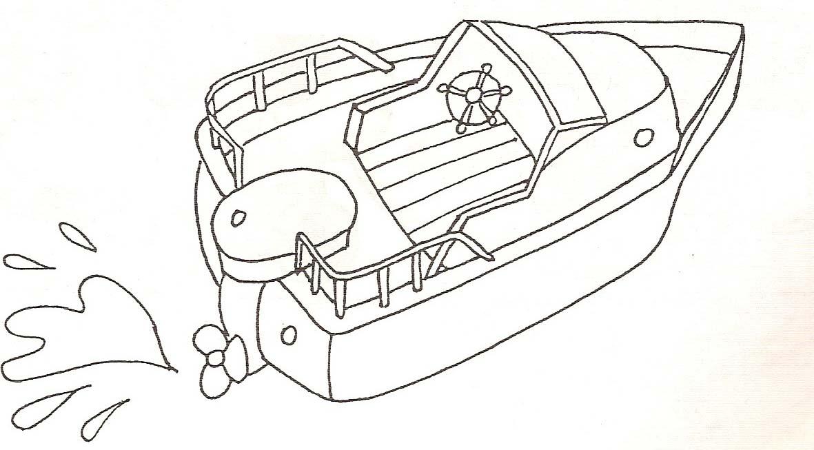 Coloriage bateau moteur - Dessin de bateau ...