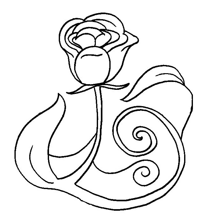 Coloriage belle rose - Rose coloriage ...