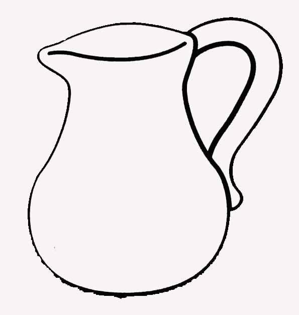 Coloriage pot eau - Un broc d eau ...