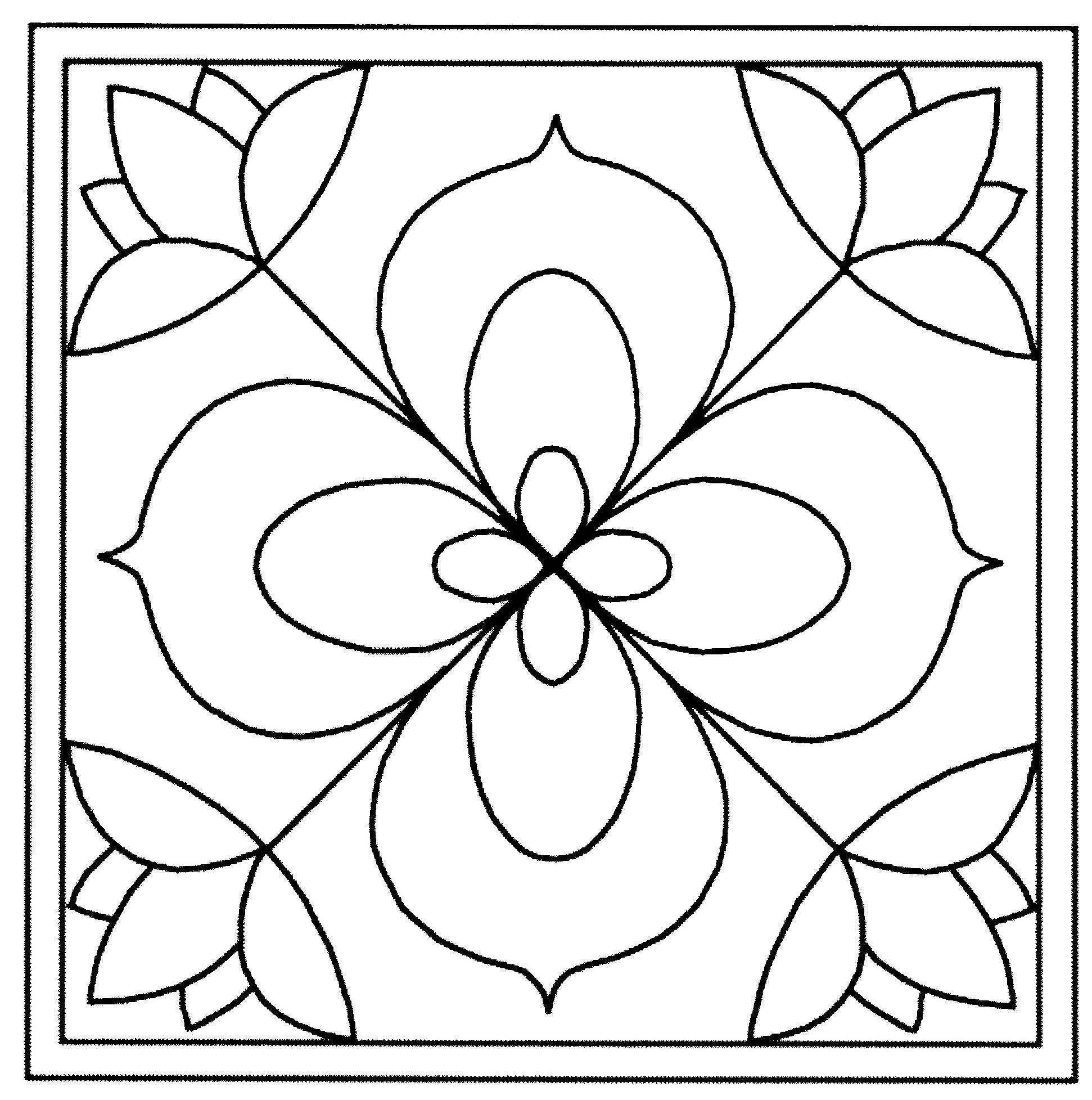 Coloriage Carreau Fleur