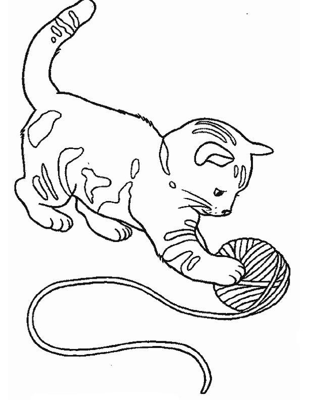 Coloriage De Chien Chat Et Cheval.Coloriages Animaux Domestiques