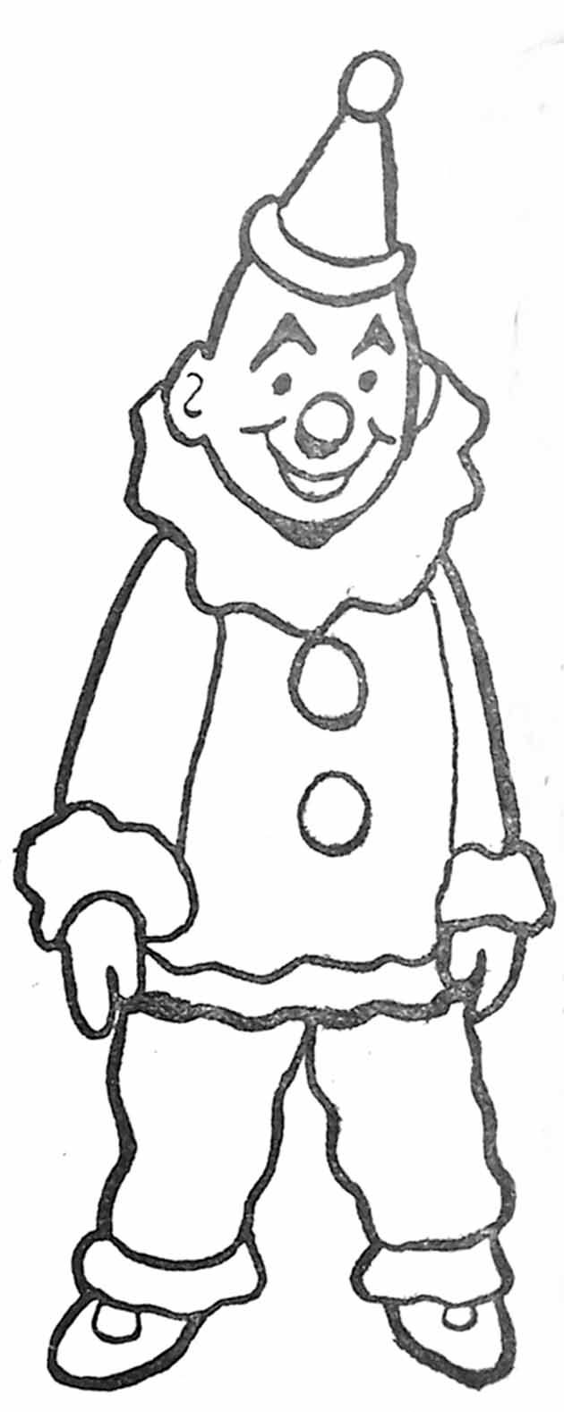 Coloriage Clown Hiver.Coloriage Clown Blanc