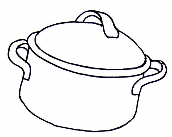 Coloriages cuisine - Casserole dessin ...