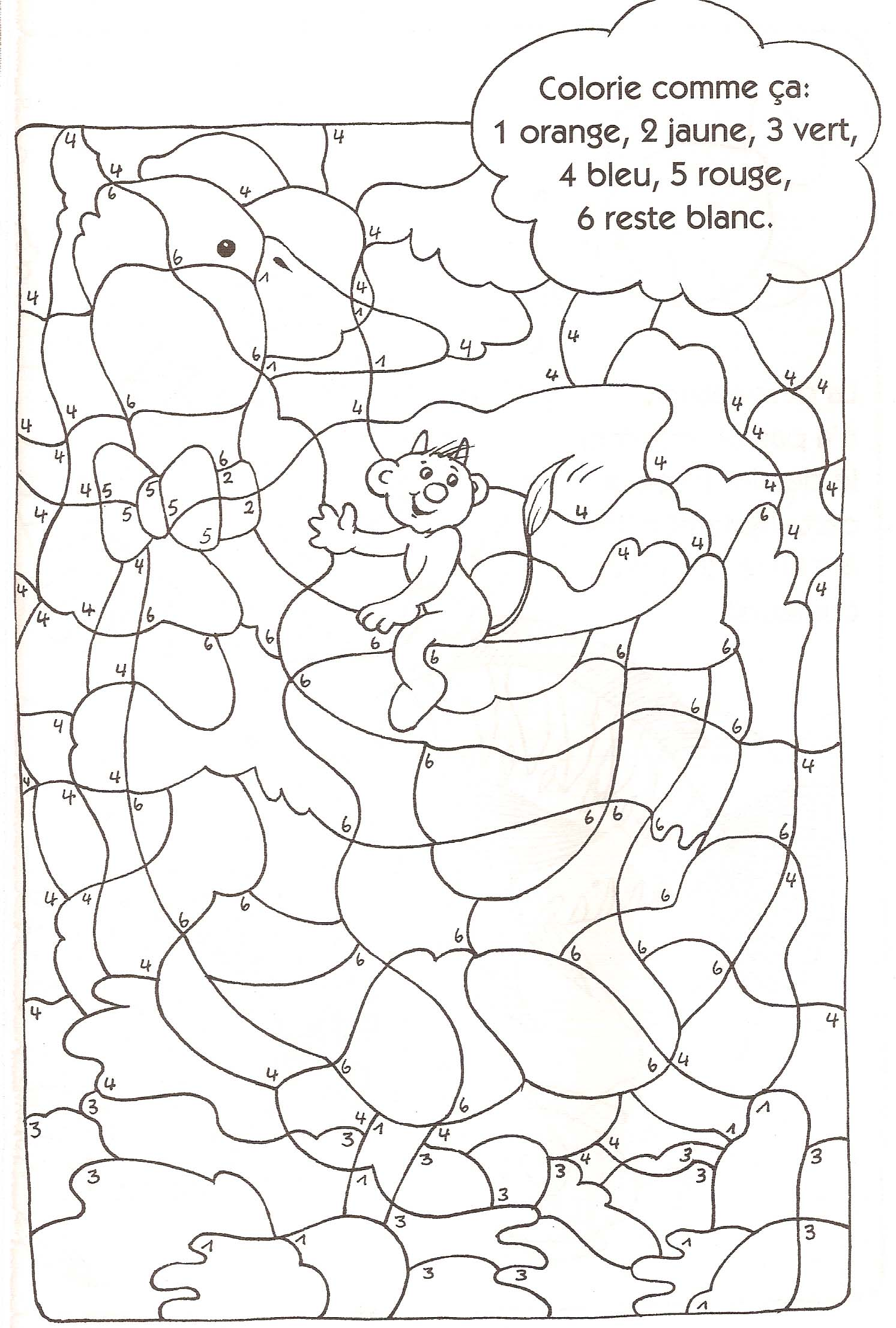 Coloriage Code Licorne.Coloriages Codes