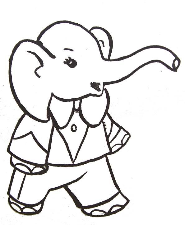 Coloriage Elephant Costume