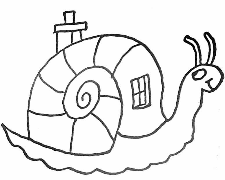 coloriage humoristique stylis descargot - Maison A Colorier