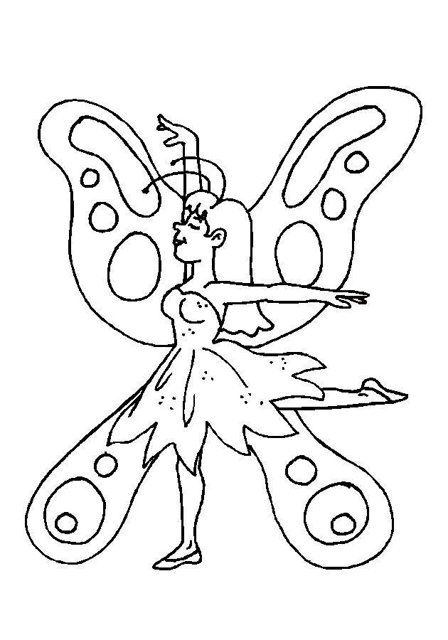 Coloriage f e papillon - Jeux de coloriage de papillon ...