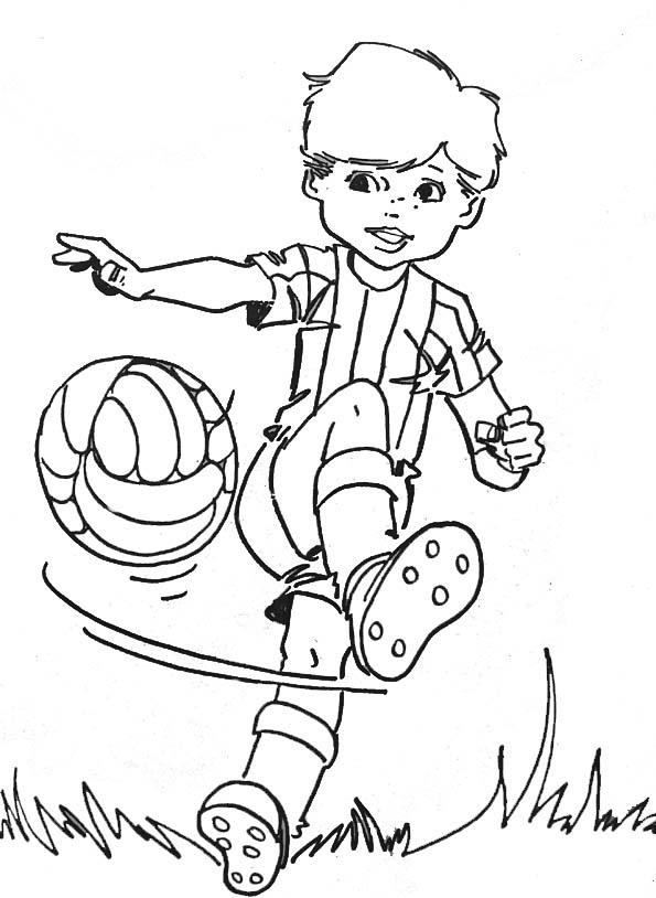 Coloriage De Foot Garcon.Coloriages Enfants