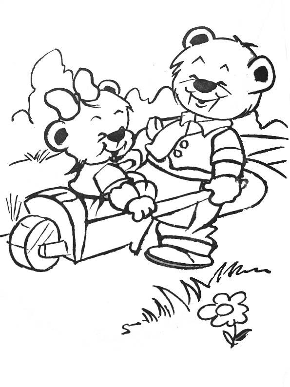 Coloriage ours jardinier - Dessin jardinier humoristique ...