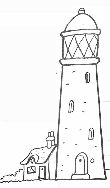 Coloriage phare - Dessin de phare ...