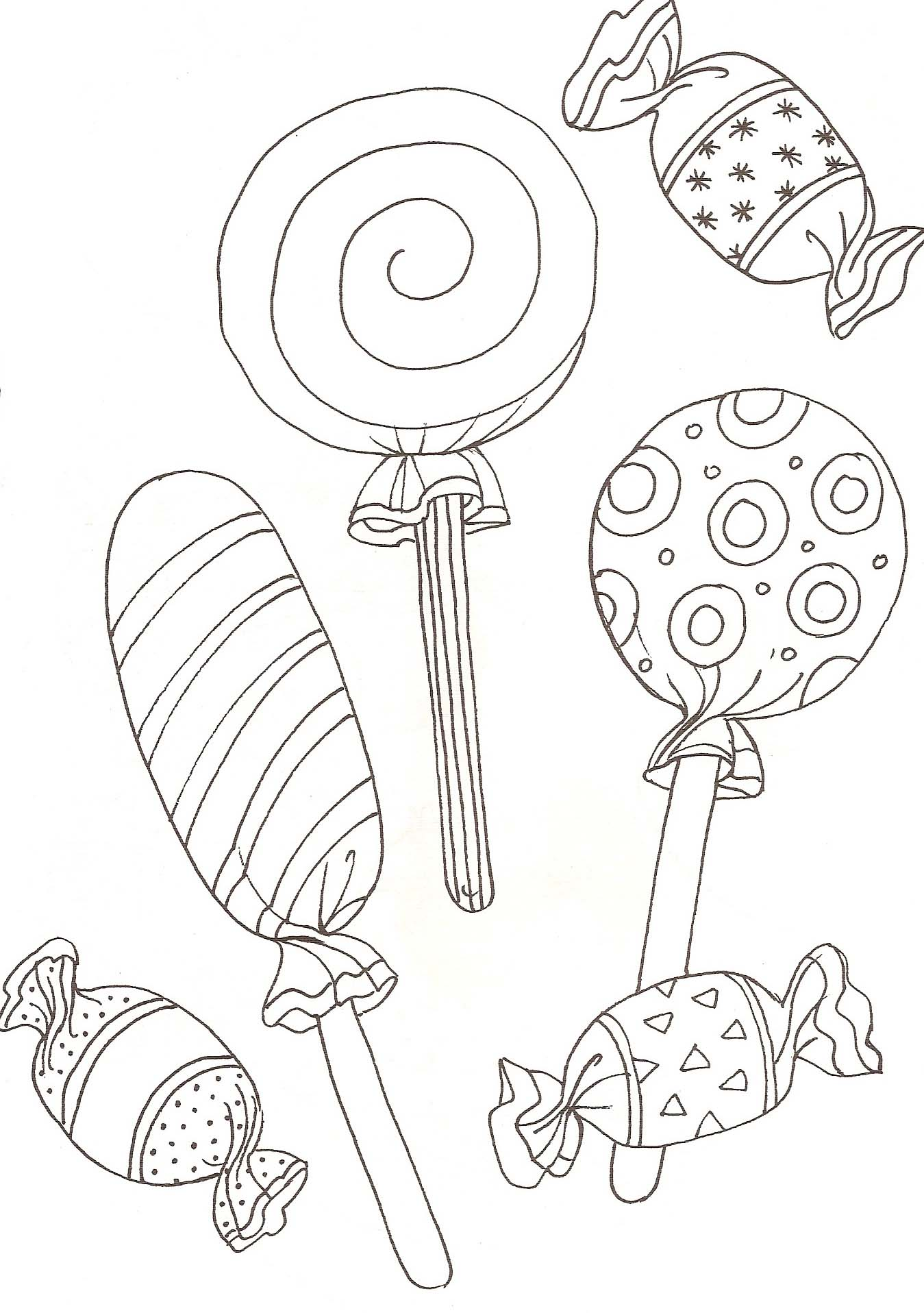 Coloriage Bonbon Halloween.Coloriages Bonbons