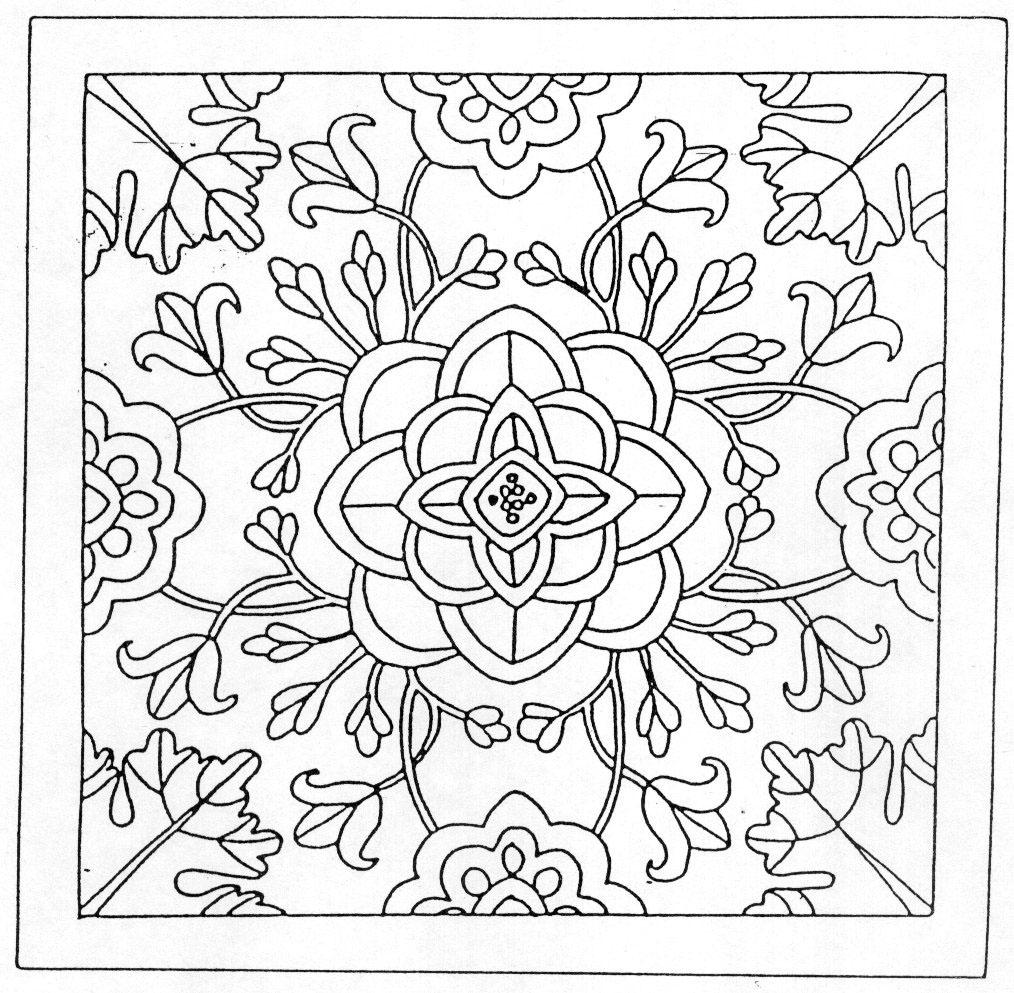 Coloriage De Mandala De Vache.Coloriages Mandalas