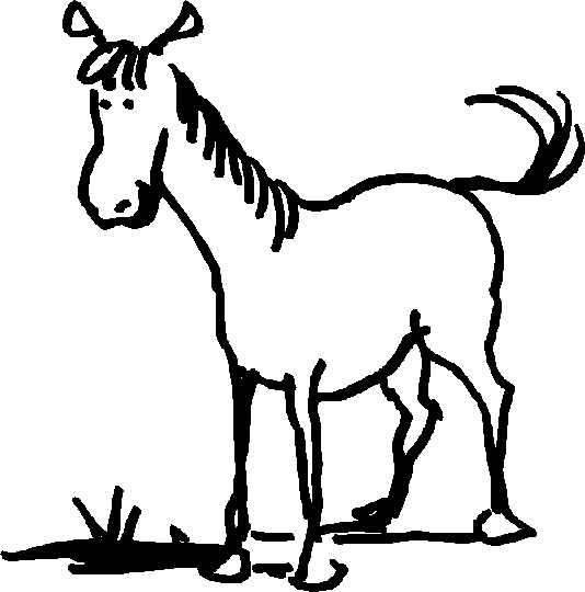 Coloriages animaux de ferme - Coloriages cheval ...