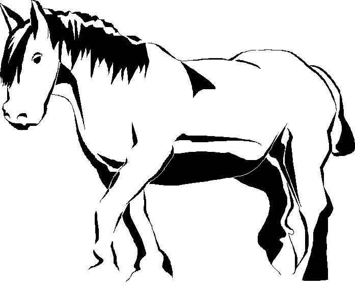 Coloriage Cheval Rigolo.Coloriages Ferme