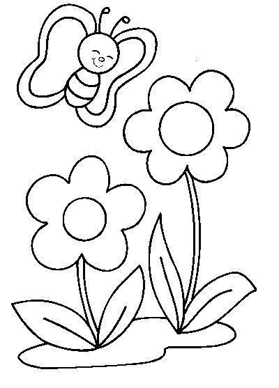Coloriage fleurs et papillon - Coloriage de fleur ...