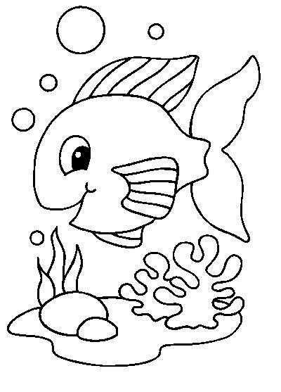 Coloriages poissons - Coloriage de poisson de mer ...