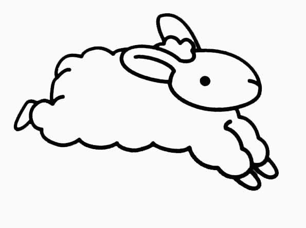 Coloriage agneau - Dessin agneau ...