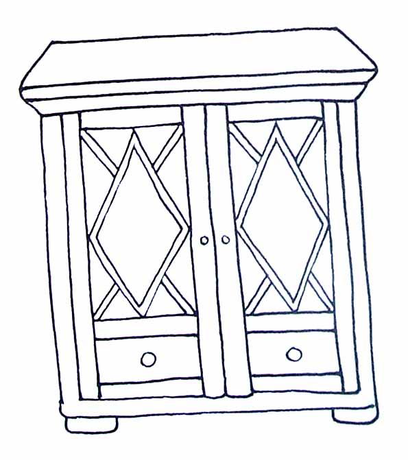 coloriages objets. Black Bedroom Furniture Sets. Home Design Ideas