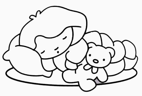 Coloriage enfant dormeur - Dessin enfant a imprimer ...