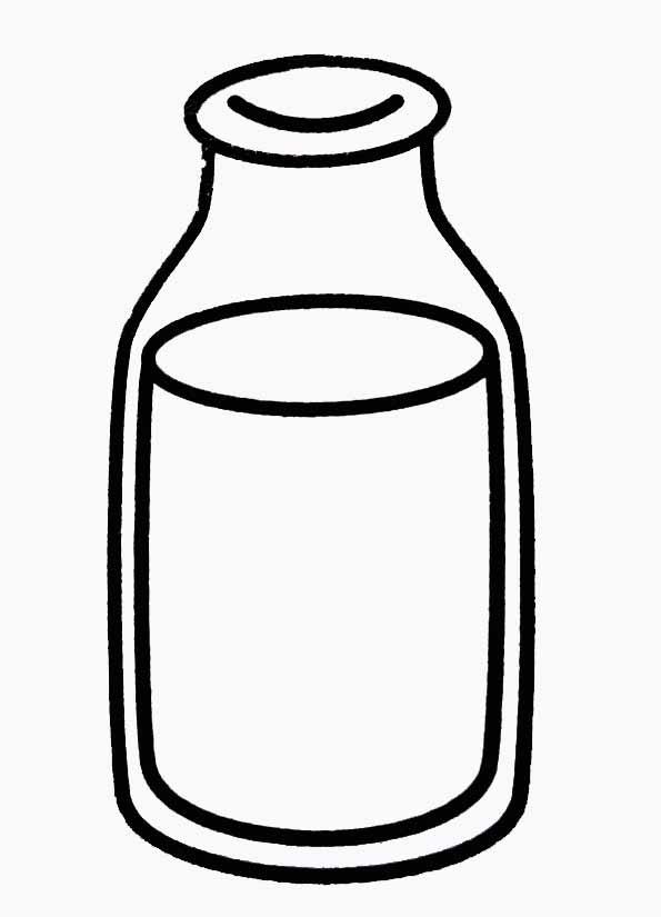 Coloriage bouteille de lait - Verre coloriage ...