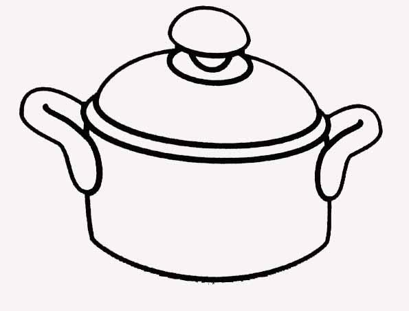 Coloriage casserole faitout - Casserole dessin ...
