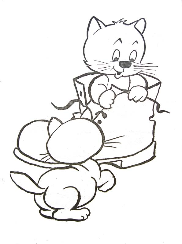 Coloriages animaux domestiques - Coloriages chatons ...