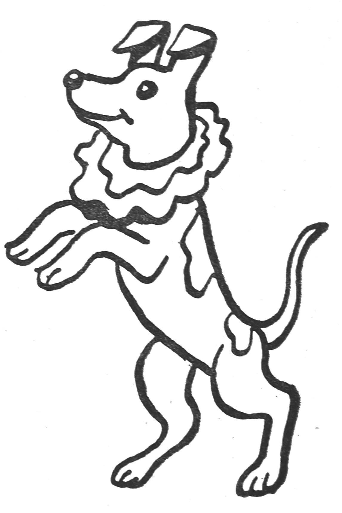 Coloriages animaux domestiques - Coloriage de chien ...