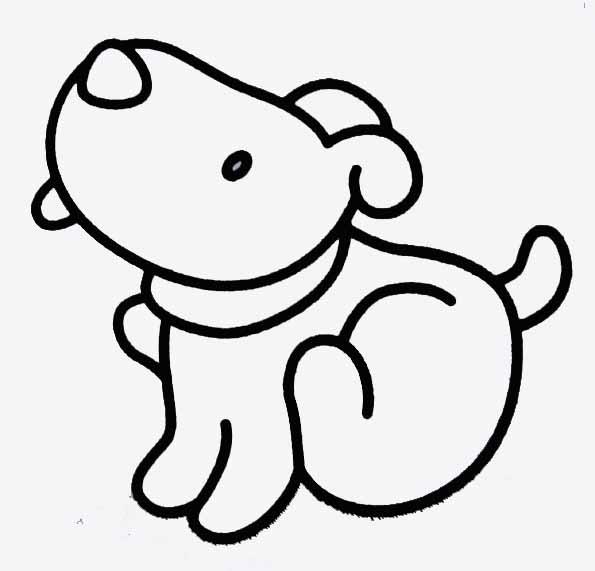 Coloriage petit chien - Dessin de petit chien ...