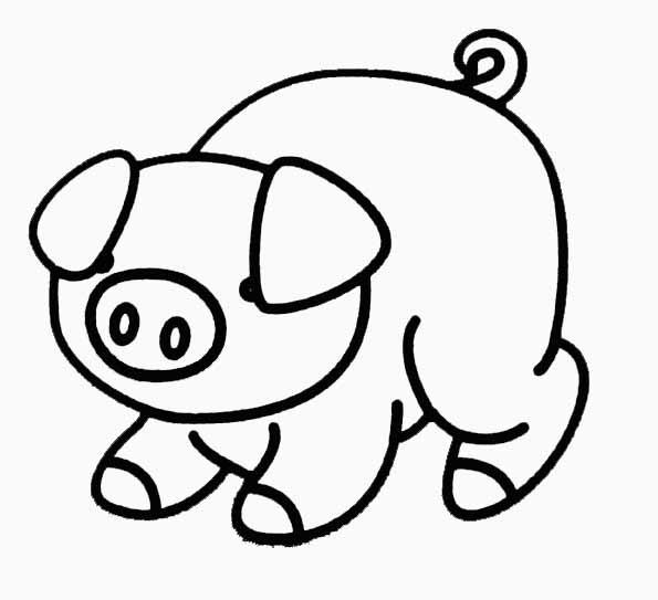 Coloriage cochon jouet - Dessin des 3 petit cochon ...
