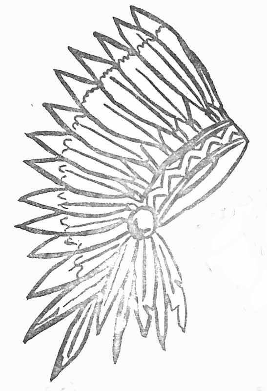 Coloriage coiffe d 39 indien - Coloriage petit indien imprimer ...
