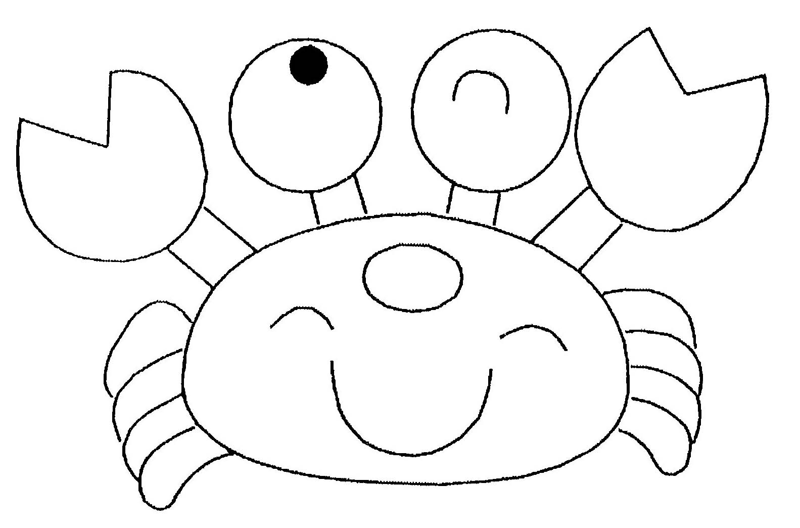 Coloriage Crabe Dauphin.Coloriage Crabe