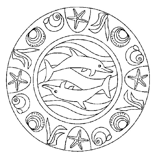 Coloriage mandala dauphins - Images dauphins a imprimer ...