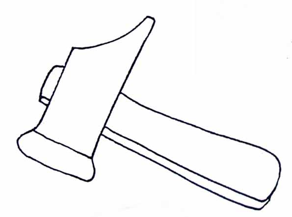 Coloriage marteau - Dessin de marteau ...
