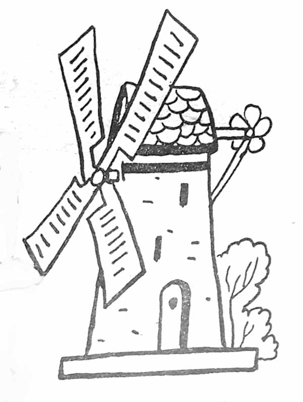 Coloriage moulin vent - Coloriage petit vent ...