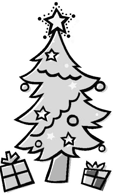 Coloriage sapin no l cadeaux - Sapin a dessiner ...