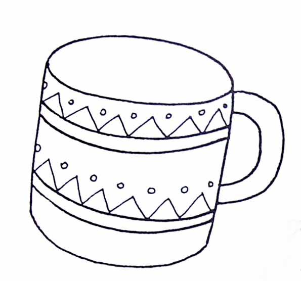 Coloriage tasse - Dessin tasse a cafe ...