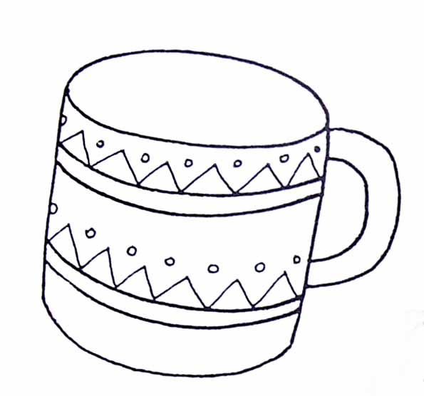 Coloriage tasse - Tasse de cafe dessin ...