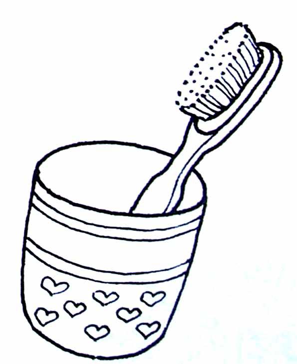 Coloriage brosse dents - Dessin de dent ...