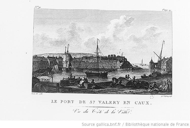 Dessins gravures ports de france - Saint valery en caux restaurant du port ...
