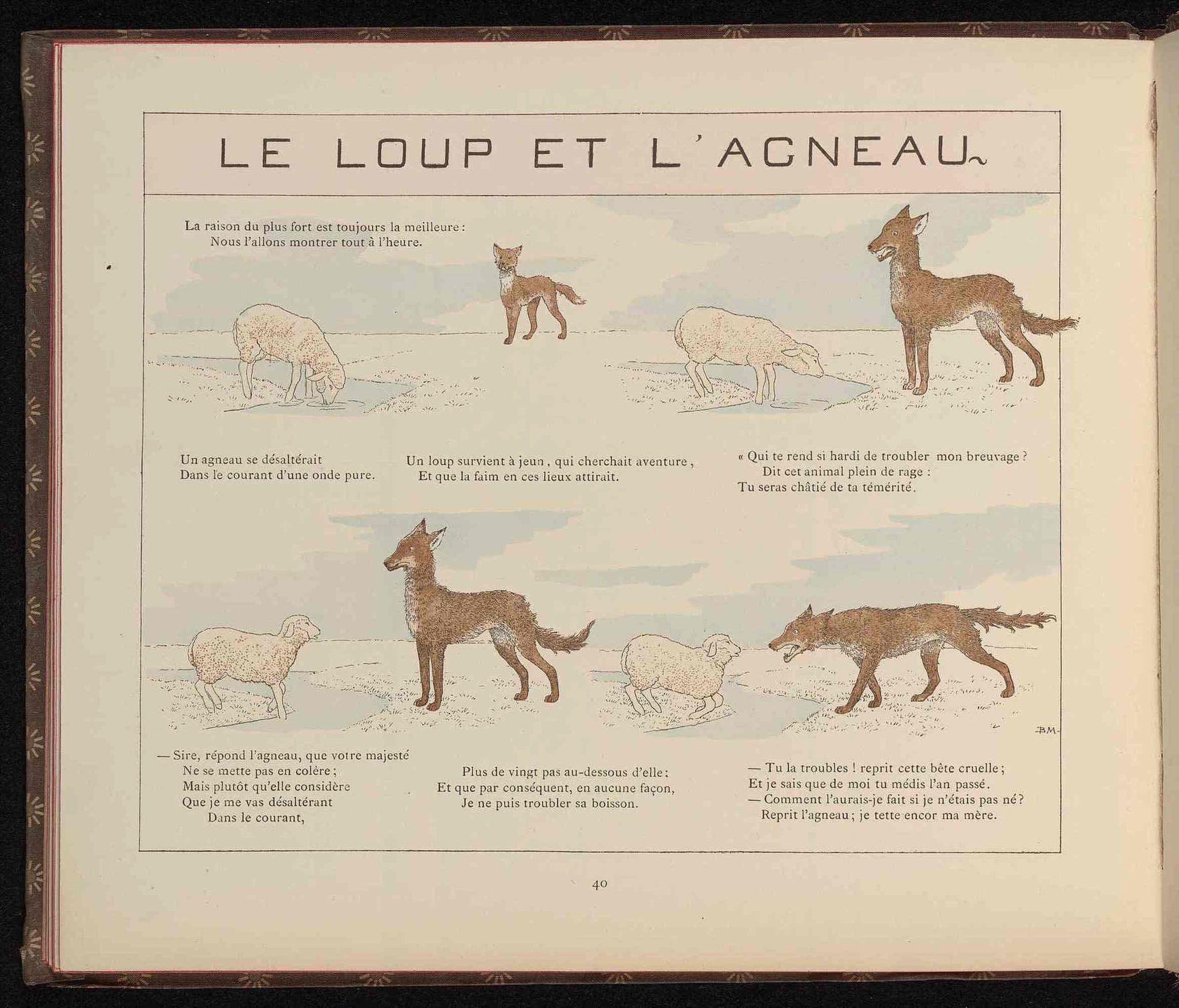 Dessins fables de la fontaine pour enfants dessins - Dessin loup et agneau ...