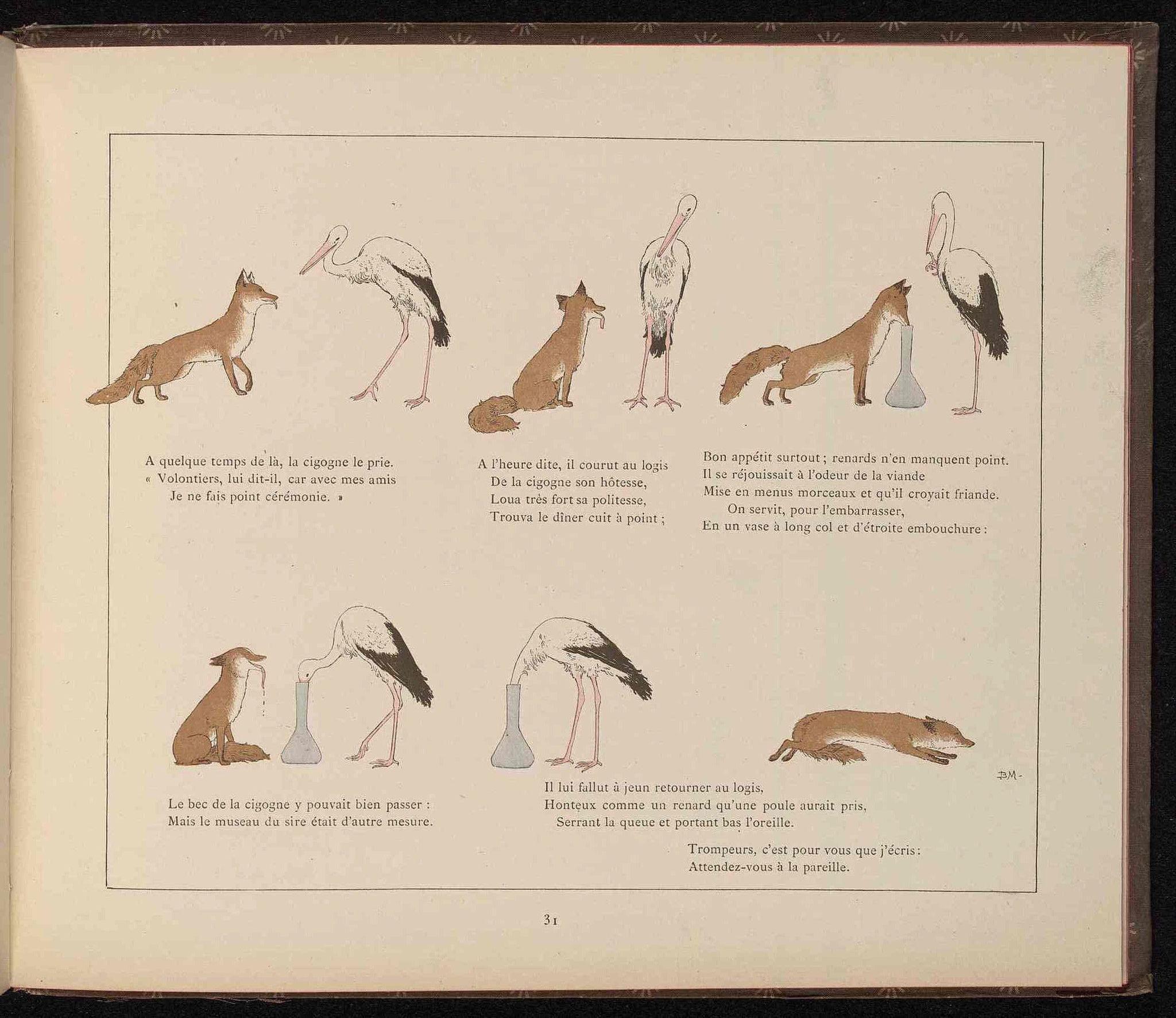 Dessins fables de la fontaine pour enfants dessins fables de la fontaine pour enfants le - Le renard et la cigogne dessin ...