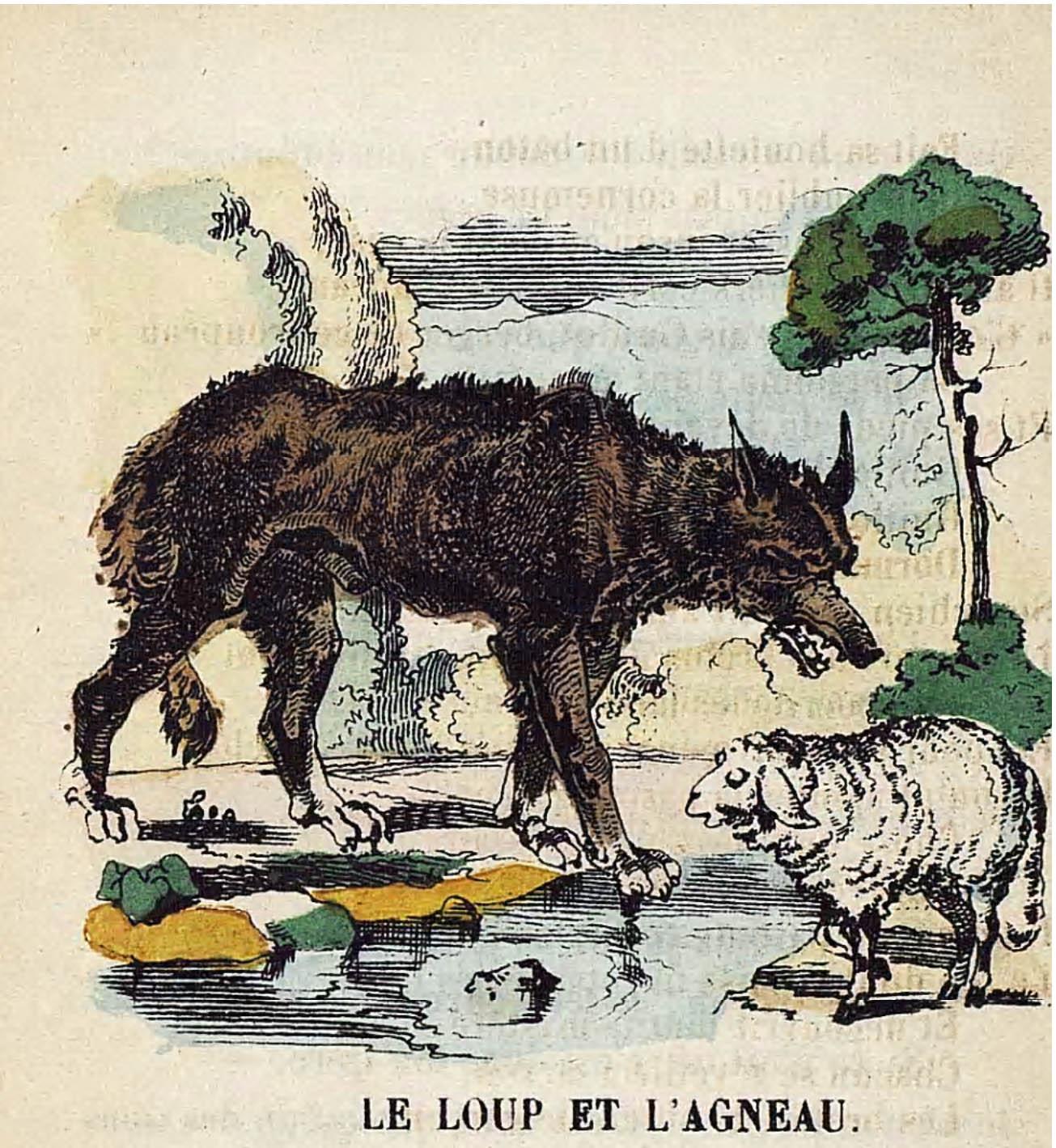 Illustrations couleur fables de la fontaine par vimar - Dessin loup et agneau ...