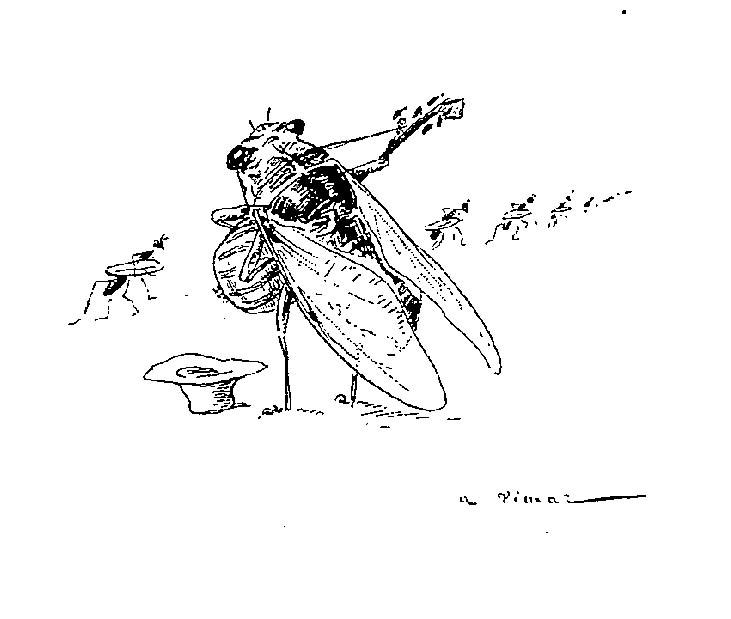 Fables De La Fontaine Par Vimar Illustrations Fables De La Fontaine Par Vimar La Cigale Et La Fourmi Copie Gravures Illustrations Dessins Images